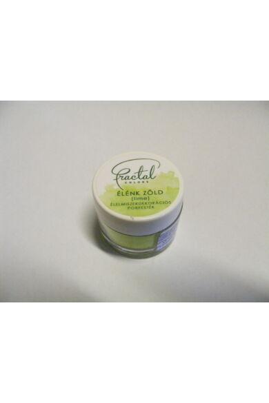 Ételfesték porfesték FRACTAL Élénk Zöld (Lime) 10 ml 1,5 gr