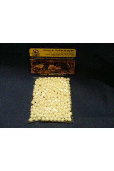 Díszítőcukor      Dekorgyöngy gyöngyház 7mm FEHÉR         10dkg