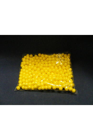 Díszítőcukor      Dekorgyöngy gyöngyház 7mm SÁRGA          10dkg