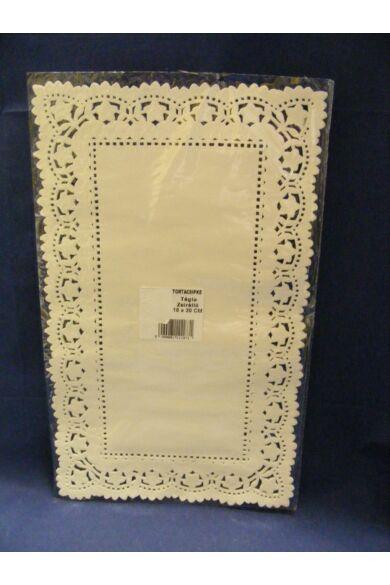 Téglacsipke 18x30 cm fehér 100 db/cs