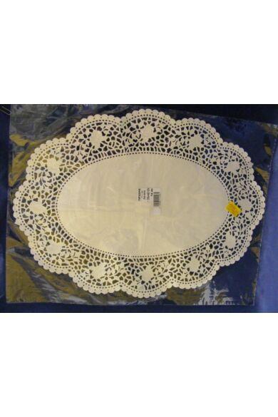 Ovális csipke 30x42 cm fehér kiskiszerelés 12db 503274