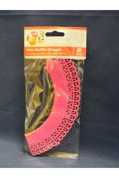 Muffin csipke dekoráció 47-50-52/ 50 mm 12 db/cs 3 szín