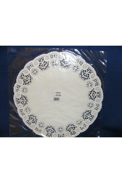 Kerek csipke 36cm fehér 100db-os 502697
