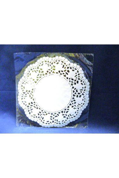 Kerek csipke 21 cm fehér 100 db/cs