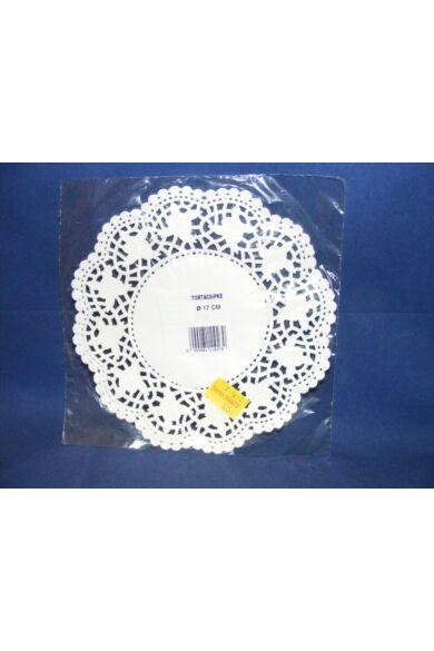 Kerek csipke 17cm fehér kiskiszerelés 12db/cs