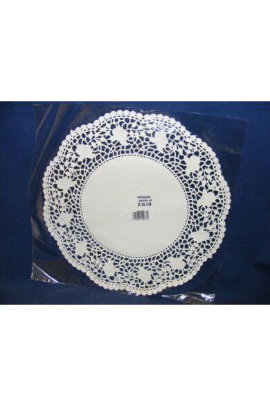 Kerek csipke 28cm fehér100db/cs 502390
