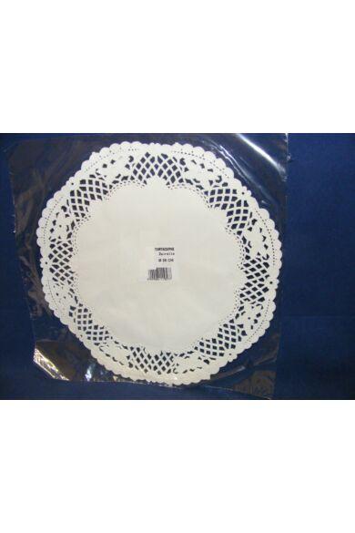 Kerek csipke 26 cm fehér 100 db/cs