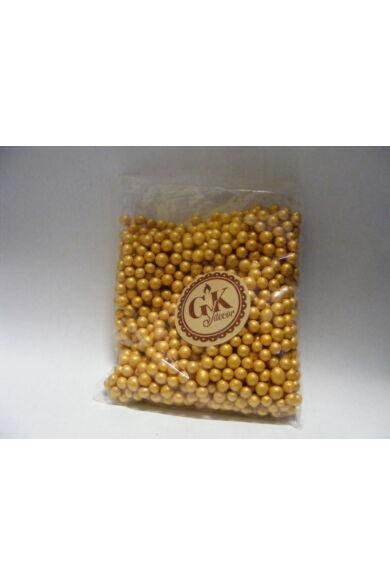 Díszítőcukor  arany  gyöngycukor  10 dkg 4 mm