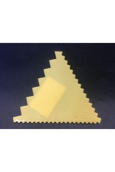 Habkártya  9,3 x 8,3 cm háromszögletű fésűs recés