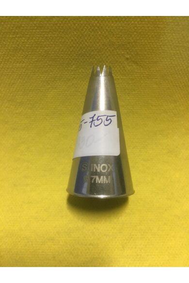 Csővég csillag sűrű, franc. 07mm