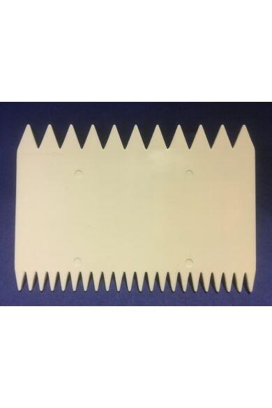 Habkártya 11x7,5 cm négyszögletes fésűs (két féle minta)