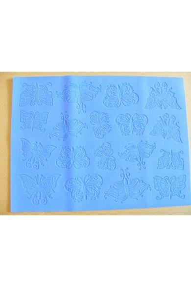 Szilikon lap Cukorfátyol készíto Pillangó minta 29,5 x 39,5 x 0,5 cm