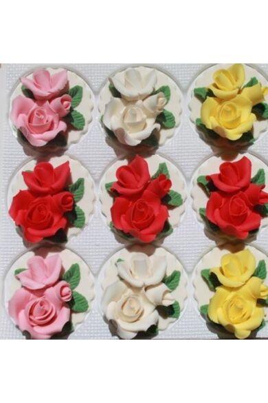 Marcipán rózsacsokor talpas 70 gr.