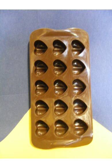 Bonbon forma szilikon Szív 15 db-os