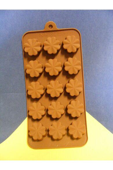 Bonbon forma szilikon Virág 15 db-os