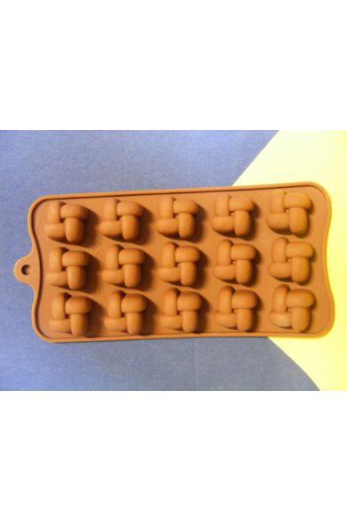 Bonbon forma szilikon Fonott 15 db-os