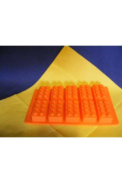 Szilikon  10 db-os LEGO építokocka forma készíto