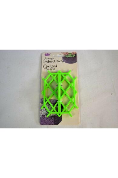 Marcipán fondant steppelő formázó készlet műanyag 120 mm x 90 mm / rombusz 3,7 x 2,7 cm