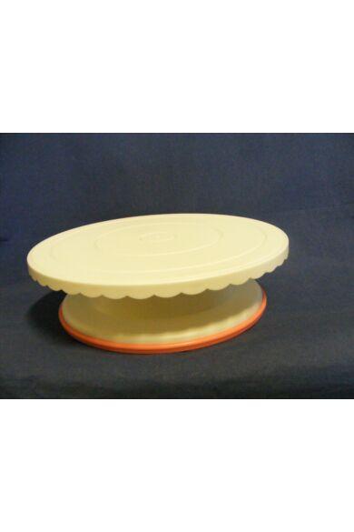 Forgatható     Tortaállvány      müanyag fehér  kerek 27 cm magasság 7,6 cm