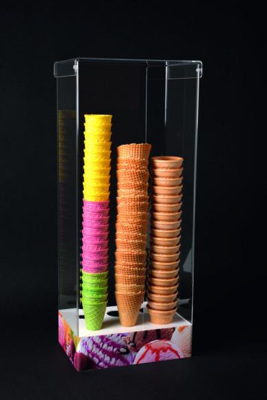 Tölcsértároló plexi vízszínű 6 tartólyukkal