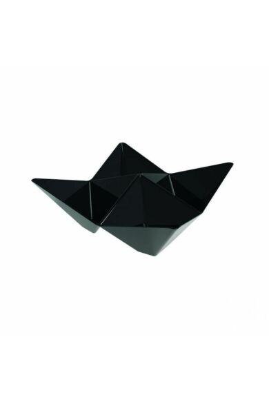 Desszertes tálka ORIGAMI négyrekeszes 103 x 103 mm fekete 25 db/cs