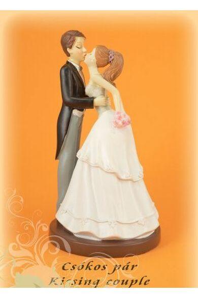 Nászpár 305000 16 cm csókos pár