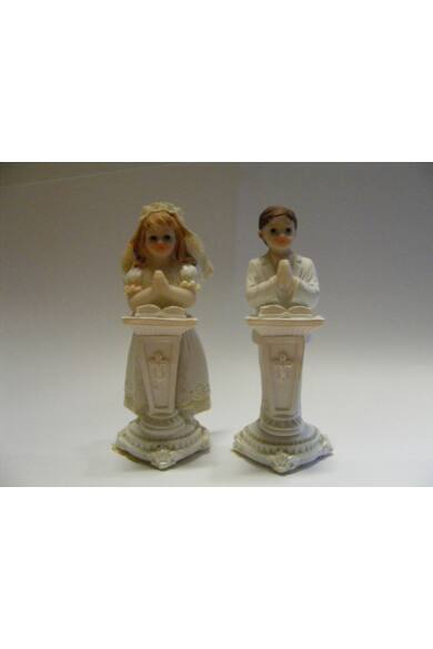 Keresztelői dísz imádkozó baba 28995