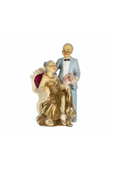 Nászpár 12 cm idős pár házassági évfordulóra
