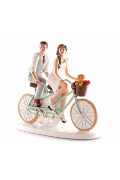 Nászpár 16 x 18 cm biciklis pár
